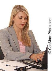 quattro, ragazza, computer