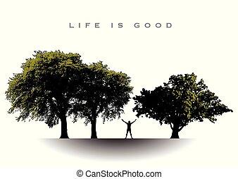 questa vita, buono, gioioso, uomo