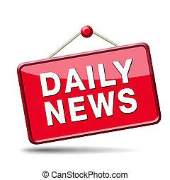 quotidiano, icona, notizie
