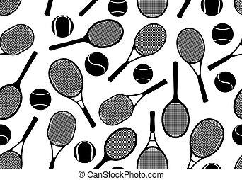 racchette, tennis, fondo, seamless