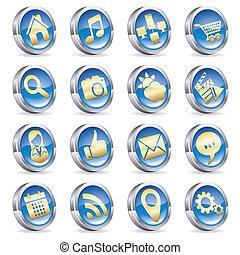 raccogliere, domande, icone