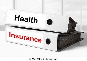 raccoglitori, assicurazione sanitaria, ufficio