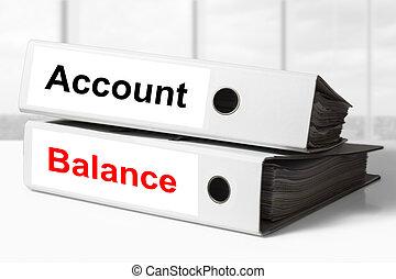raccoglitori, conto, equilibrio, ufficio