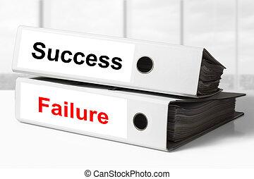 raccoglitori, fallimento, ufficio, successo