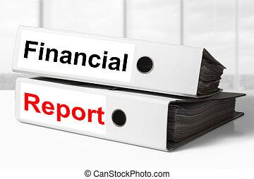 raccoglitori, relazione, finanziario, ufficio