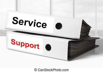 raccoglitori, sostegno, servizio, ufficio