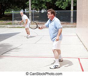 racquetball, uomini, gioco