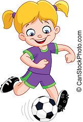 ragazza, calcio