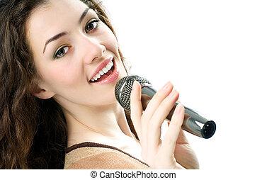 ragazza, canto