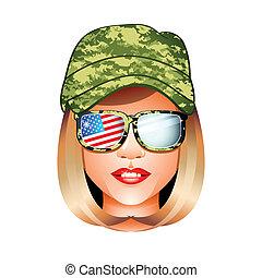 ragazza, esercito