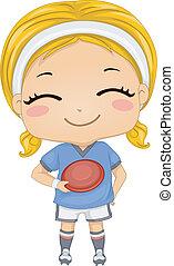 ragazza, frisbee