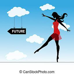 ragazza, futuro