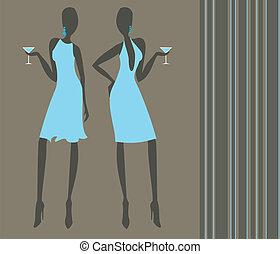 ragazze, cocktail