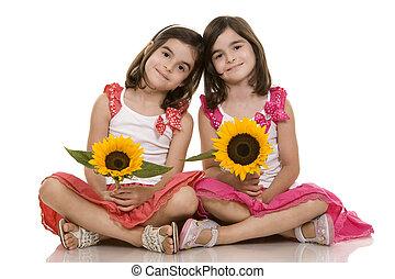 ragazze, gemelli