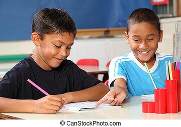 ragazzi, classe scolastica, cultura