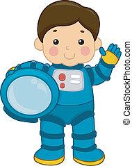 ragazzo, astronauta