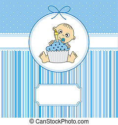 ragazzo, bambino, torta compleanno
