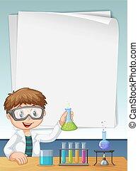 ragazzo, carta, giovane, copyspace, scienza