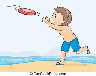ragazzo, frisbee