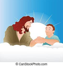 ragazzo, gesù, giovane, cristo