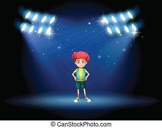 ragazzo, giovane, palcoscenico