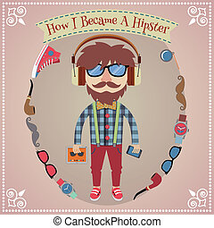 ragazzo, hipster, manifesto