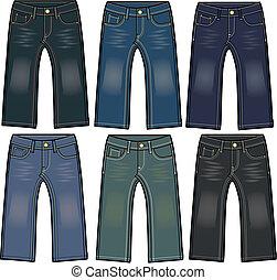 ragazzo, jeans denim