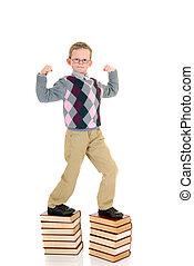 ragazzo, libro, giovane