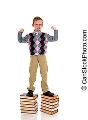 ragazzo, libro, giovane, prodigio