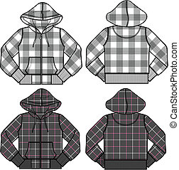 ragazzo, ragazza, moda, hoodies