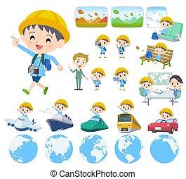 ragazzo, viaggiare, scuola materna