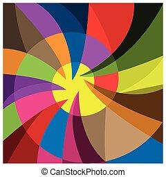 raggi, colorito, fondo, volantini, festa, tuo