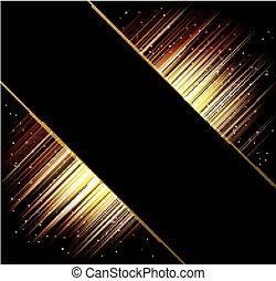 raggi, luce, astratto, fondo., vettore, cornice