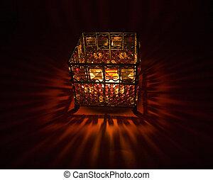 raggi luminosi, candele