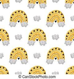 raibow, pattern., vettore, ape