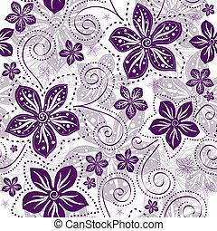 ramage, seamless, white-violet