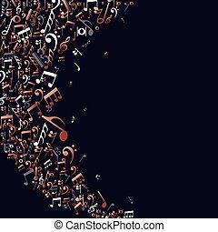 rame, note, concetto, musica, fondo