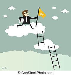 rampicante, scala, successo