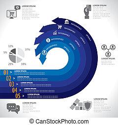 rappresenta, finanza, grafico, vector., bancario, &, questo, soldi, commerciale, relativo, affari, anche, e-commercio, analisi, sagoma, infographics, statistica, dati, rapporti, sicurezza