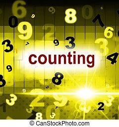rappresenta, numeri, tre, uno, numeri, matematica, due