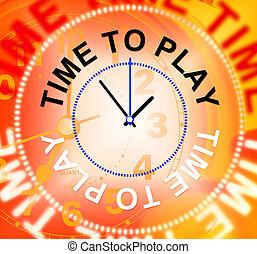 rappresenta, ricreazione, gioco, gioioso, tempo, gioco