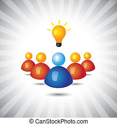 rappresentare, semplice, graphic., esecutivo, direttore, politico, vincente, anche, impiegato, condottiero, suo, affari, riuscito, illustrazione, seguaci, ideas-, personale, questo, persona, vettore, lattina, o