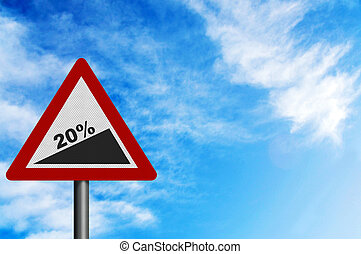 rappresentare, spazio, segno, foto, ricoprire, slope', increase., gennaio, realistico, '20%, regno unito, testo, 2011, tuo, tino