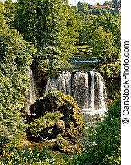 rastoke, verde, croazia, cascata, natura