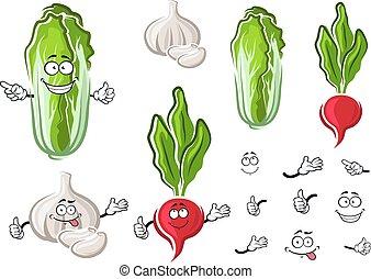 ravanello, verdura, cavolo, aglio, cinese