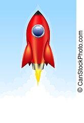 razzo rosso, lancio