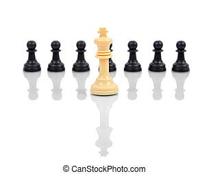 re, bianco, scacchi