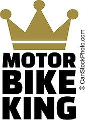 re, corona, motocicletta