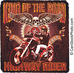 re, motocicletta, strada