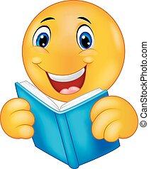 readi, felice, cartone animato, smiley, emoticon